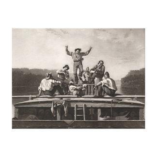Jolly Boatmen 1847 Canvas Print