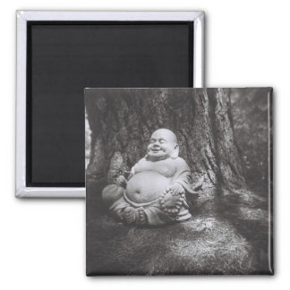 Jolly Buddha 2 Inch Square Magnet