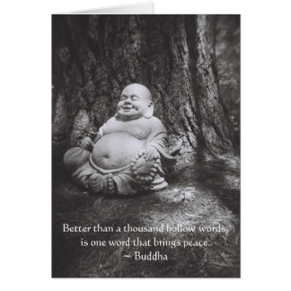 Jolly Buddha - Buddha Quote Greeting Card