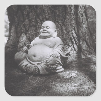Jolly Buddha Square Sticker