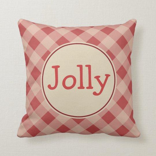 Jolly Christmas Gingham  Pillow