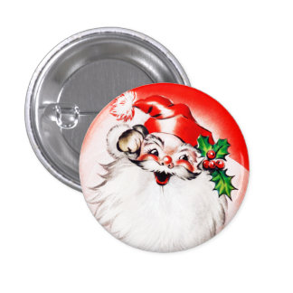 Jolly Christmas Greetings 1 Inch Round Button