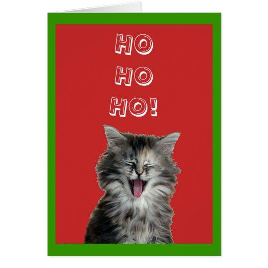 Jolly Christmas Kitten greeting card