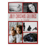 Jolly Christmas Multi-Photo Family Greeting Card