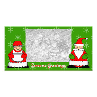 Jolly Christmas Santa and Mrs Claus Photo Cards