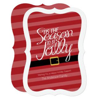 Jolly Christmas Santa Claus Suit - Non-photo Card