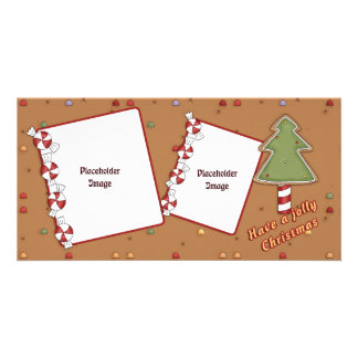 Jolly Christmas - Tree and Candy Picture Card