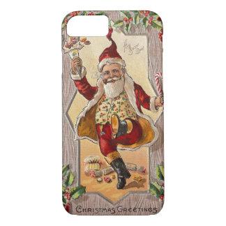 Jolly Dancing Santa Funny Vintage Christmas iPhone 7 Case