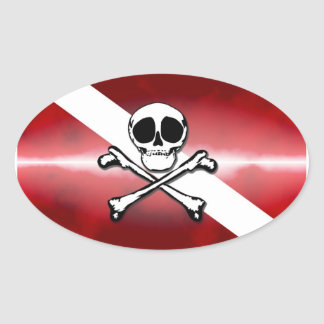 Jolly Diver Oval Sticker