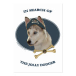 Jolly Dodger Ausky Dog Pirate Large Business Cards (Pack Of 100)