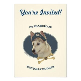 Jolly Dodger Ausky Dog Pirate Card