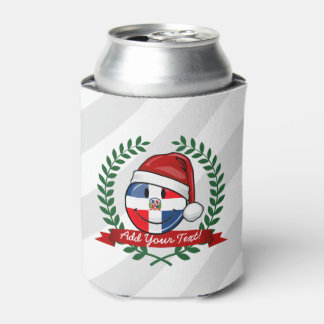 Jolly Dominican Republic Flag Christmas Can Cooler