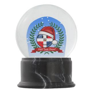 Jolly Dominican Republic Flag Christmas Snow Globe