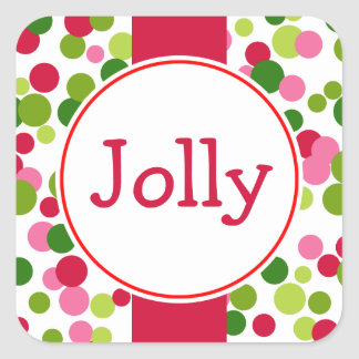 Jolly Dots Christmas Stickers