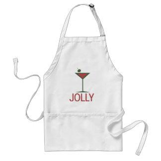 Jolly drinking Martini Xmas Adult Apron