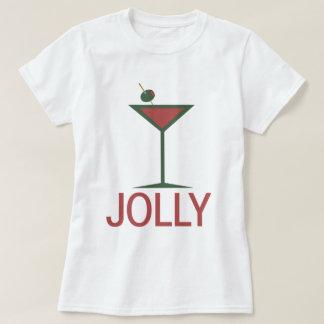Jolly drinking Martini Xmas T-Shirt