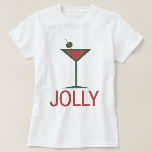 Jolly drinking Martini Xmas Tshirts
