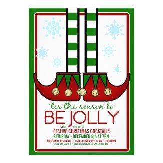 Jolly Elf Christmas Cocktail Party Custom Announcement