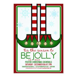 Jolly Elf Christmas Cocktail Party Custom Invites