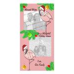 Jolly Flamingos/ Photo greeting card