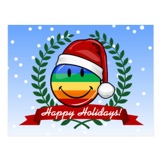 Jolly Gay Pride Flag Christmas Style Postcard