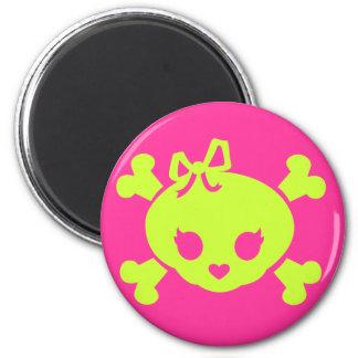 Jolly Girl 2 Inch Round Magnet