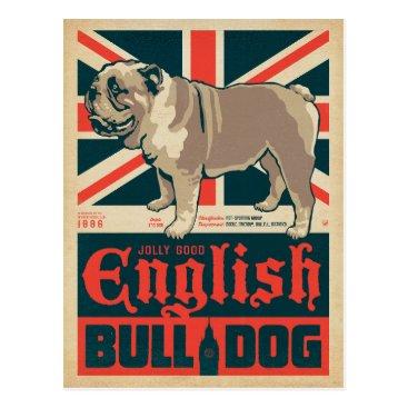 AndersonDesignGroup Jolly Good English Bulldog Postcard