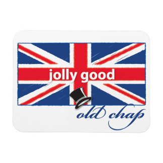 Jolly good old chap! rectangle magnet