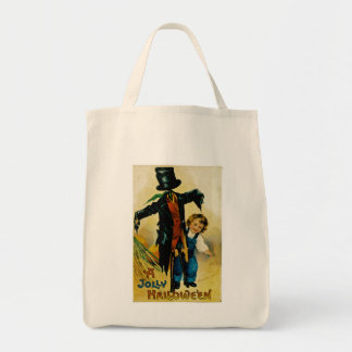Jolly Halloween Scarecrow Tote Bag