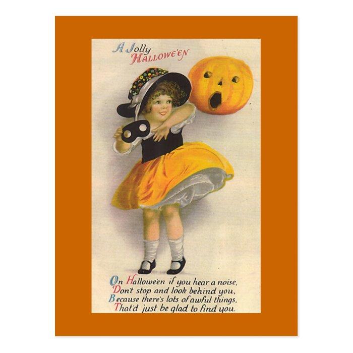 """ Jolly Halloween"" Vintage Halloween Card"