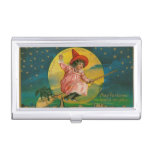Jolly Halloween Vintage Witch Business Card Cases