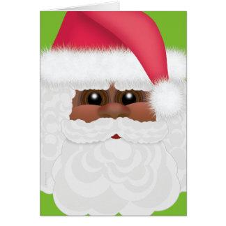 Jolly Holiday Black or African American Santa Card