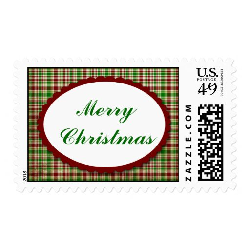 Jolly Holiday Christmas Postage Stamp