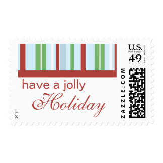 Jolly Holiday Postage Stamp