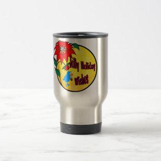 Jolly Holiday WIshes Gifts Travel Mug