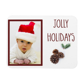 Jolly Holidays with Photo Magnet