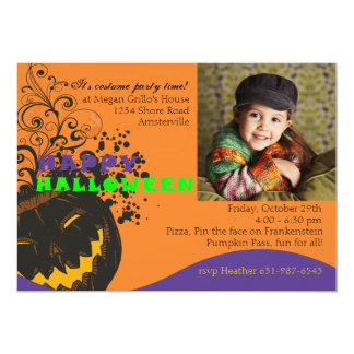 Jolly Jack o Lantern - Halloween  Invitation