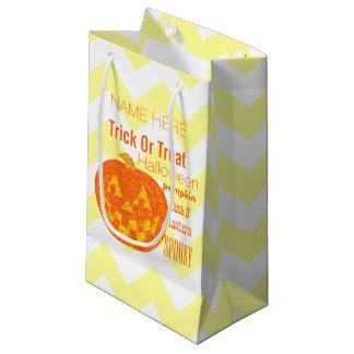 Jolly Jack O Lantern Halloween Party Chevron Small Gift Bag