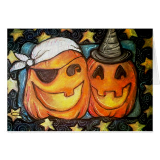 Jolly Jack-o-lanterns Card