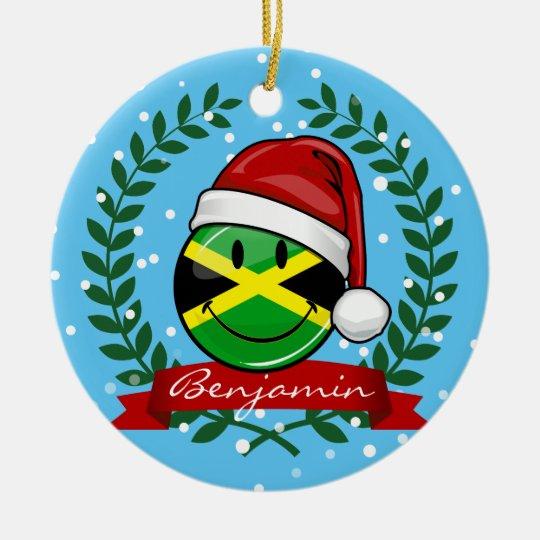 Jolly Jamaican Flag Christmas Style Ceramic Ornament - Jolly Jamaican Flag Christmas Style Ceramic Ornament Zazzle.com
