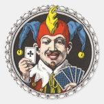 jolly joker round sticker