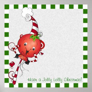 Jolly Lolly Lollipop Art Poster