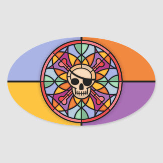 Jolly Maltese Oval Sticker