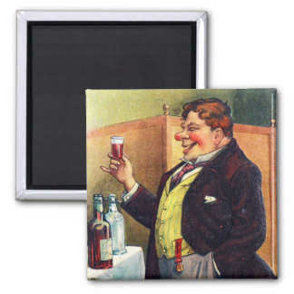 Jolly Man Toasting with Cognac Magnet