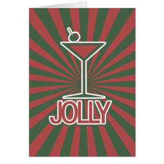 Jolly Martini Christmas Card