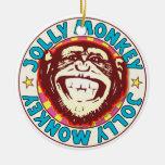 Jolly Monkey Ceramic Ornament
