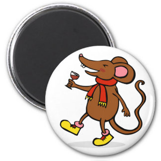 Jolly Mouse 2 Inch Round Magnet