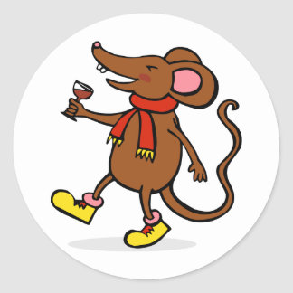 Jolly Mouse Classic Round Sticker