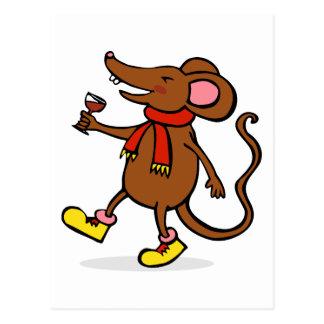 Jolly Mouse Postcard