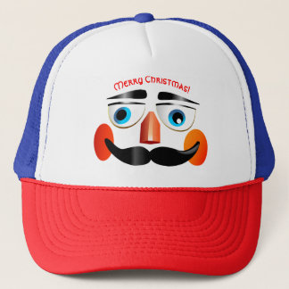 Jolly Nutcracker Toy Soldier Cartoon Trucker Hat